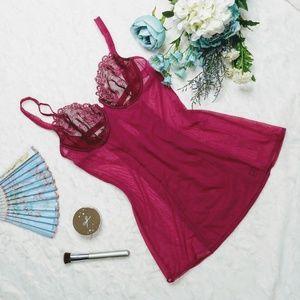 VS Dark Pink Lingerie Dress Nightie